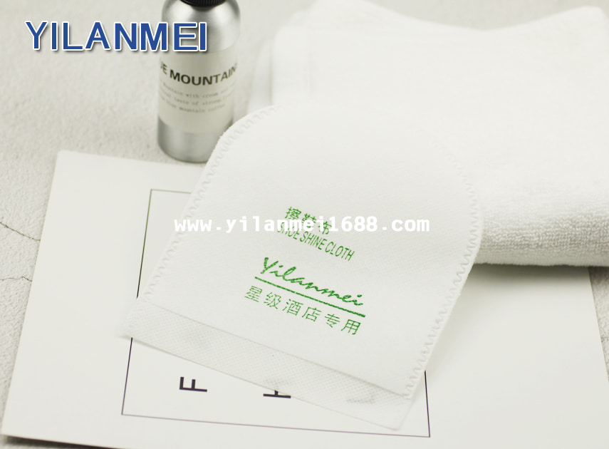 Disposable Hotel Shoe Shine Cloth Shoe Cleaning Cloth